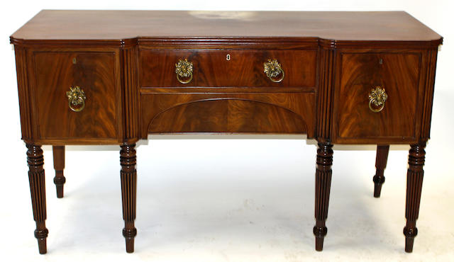 An early 19th century mahogany sideboard, possibly Scottish