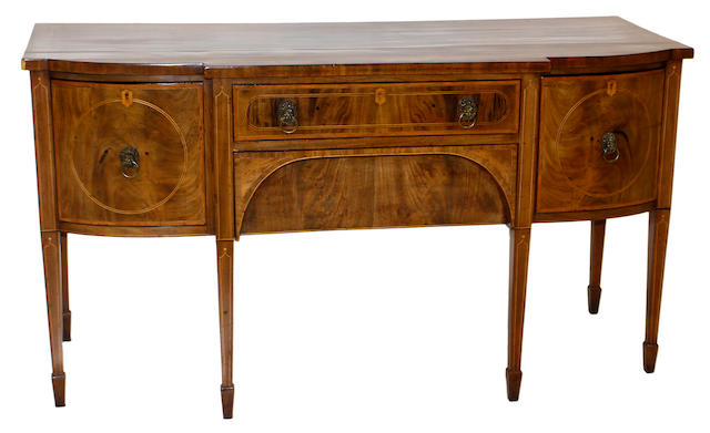 An early 19th century mahogany sideboard, probably Scottish
