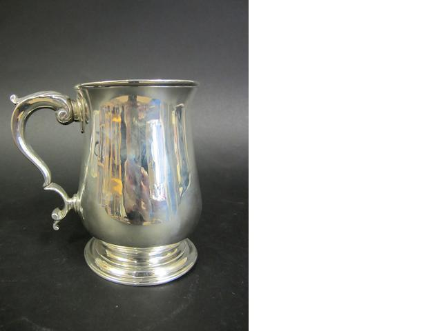 A George III silver baluster mug by Joseph Dodds, London 1771