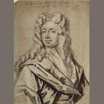 Circle of Sir Godfrey Kneller (Lübeck 1646-1723 London) Sketch of a man unframed