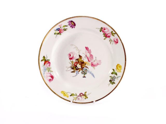 A Swansea plate by Henry Morris, circa 1815-17
