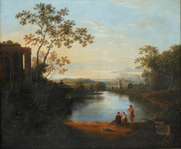 Follower of Richard Wilson (British, 1752-1807) Classical landscape