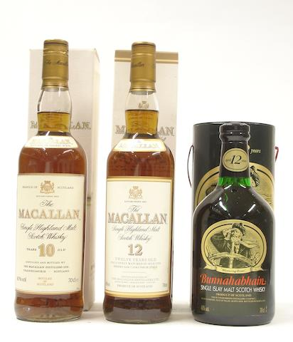 The Macallan-10 year old  The Macallan-12 year old  Bunnahabhain-12 year old