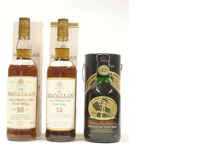 The Macallan-10 year old<BR /> The Macallan-12 year old<BR /> Bunnahabhain-12 year old