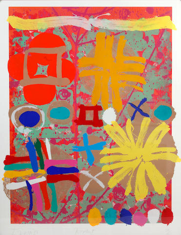 Albert Irvin RA (British, born 1922) Abstract Colour screenprint, 1998, on wove, signed, dated and numbered 36/125 in pencil, 1335 x 1050mm (52 1/2 x 41 3/8in)(I)