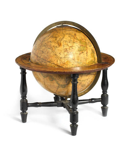 A J & W Cary 12-inch celestial table globe,  English,  early 19th century,