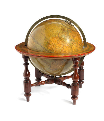 A W & A.K. Johnson 12-inch terrestrial table globe,  Scottish,  mid 19th century,