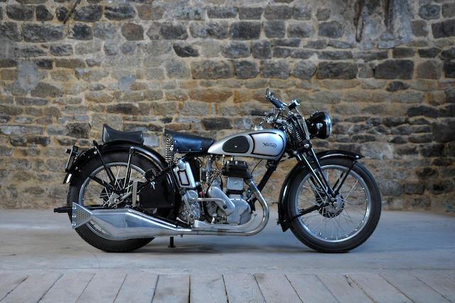 c.1937 Norton 597cc Big 4 Frame no. 709076 Engine no. 8204 (see text)