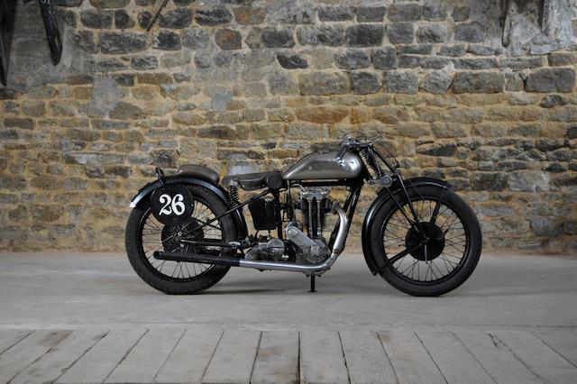 c.1930 Monet-Goyon 350cc Racing Motorcycle Frame no. 40753 Engine no. 1C14H 91283