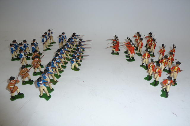 Britains plastic Eyes Right American War of Independence 154 excluding spare parts
