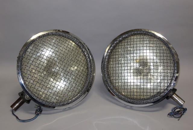 A pair of large headlamps to suit 8-Litre Bentley,