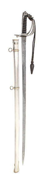 A Silver Hilted Rifle Officer's Presentation Sword