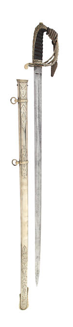 A Scottish Victorian Artillery Officer's Presentation Sword