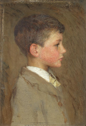 Sir George Clausen, RA, RWS (British, 1852-1944) Portrait of Arthur George Clausen, the artist's son