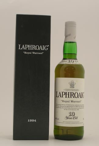 Laphroaig Royal Warrant-10 year old