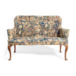 Early 18th Century tapestry covered sofa of cabriole legs