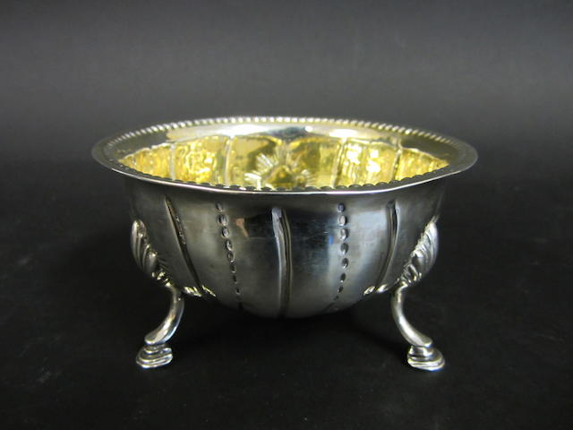 A George II silver bowl possibly by William Hughes or William Homer, Dublin 1750