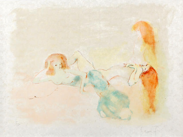 Leonor Fini (Italian, 1907-1996) Three Prints of female nudes Colour lithographs, c1970, on textured japan paper, each signed and numbered 3, 5 and 41 respectively out of 100 in pencil, 380 x 520mm (14 7/8 x 20 1/2in)(Sheet)(3 unframed)