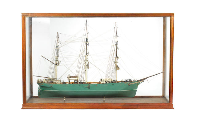 A cased model of the Clipper Thermopylae 1868.