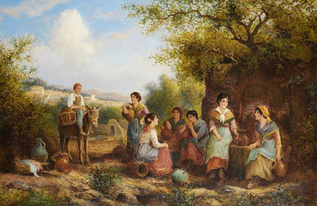 Arthur Trevor Haddon (British, 1864-1941) A good gossip
