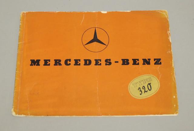 A Mercedes-Benz Type 320 sales brochure, 1937,