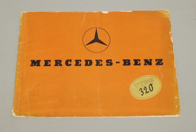 A Mercedes-Benz Type 320 sales brochure, 1937,