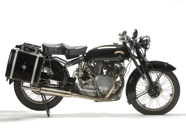 1952 Vincent Series 'C' Rapide Frame no. RC01337/C Engine no. F10AB/1/18437