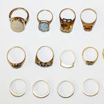 A collection of vari gem-set rings, (15)