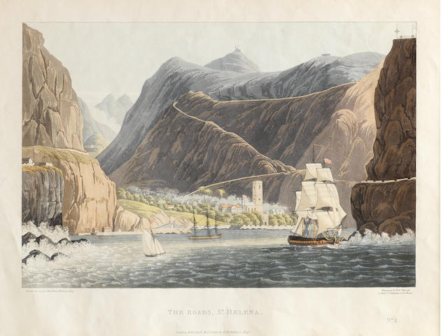 After George Hutchins Bellasis Views of Saint Helena  The set of six hand-coloured aquatints, 1815, engraved by Robert Havell, on J.Whatman paper, published by the artist, 340 x 255mm (13 3/8 x 10in) 6