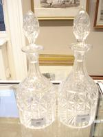 Four pairs of decanters  Circa 1900