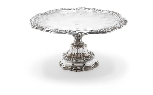 """An 18th century Portuguese  silver tazza unknown maker's marks recorded in """"Portuguese Silver Vol 1 15th century-1887"""", p.31 No.271, Lisbon"""