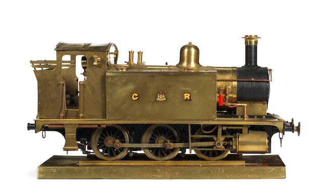 A 3 1/2in gauge live steam brass model of a Caledonian Railway 0-6-0 tank engine 'Rob Roy' built by J.Cartwright