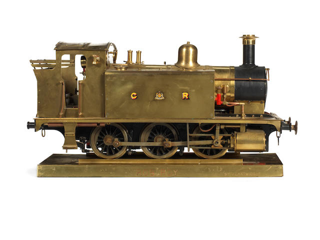 A 3 1/2in gauge live steam brass model of a Caladonian Railway 0-6-0 tank engine 'Rob Roy' built by J.Cartwright