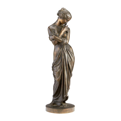 Charles Cumberworth (French, 1811-1852) A bronze figure of a female nude