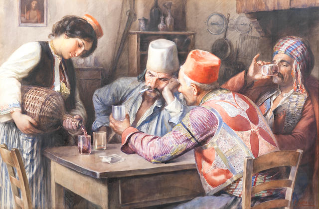 Giuseppe Lallich (Italian, born 1867) Uomini in abito dalmata
