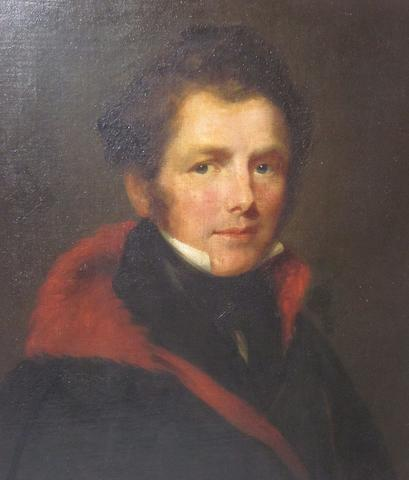 English School, 19th century Portrait of William Bell 64cm x 53cm.