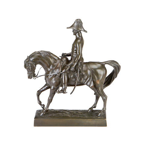 Alfred-Guillaume-Gabriel, Comte d'Orsay, French (1801-1852)  A bronze equestrian portrait of Arthur Wellesley, 1st Duke of Wellington (1769-1852), Field Marshall and Prime Minister depicted on his favourite charger 'Hanover',