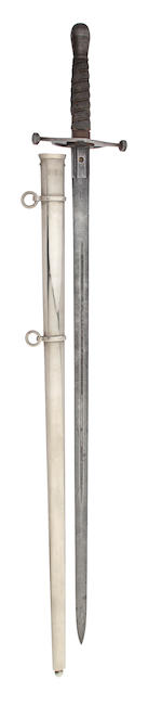 A Regimental 1828 Pattern Scottish Officer's Cross Hilted Broadsord of the Royal Scots Fusiliers