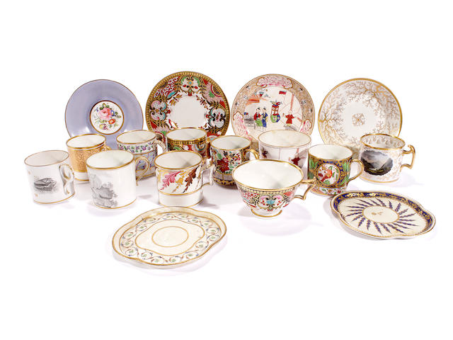 A group of English porcelain, late 18th/early 19th century