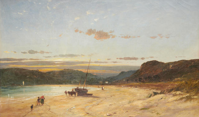 James Francis Danby (British, 1816-1875) St Brelade's Bay, Jersey