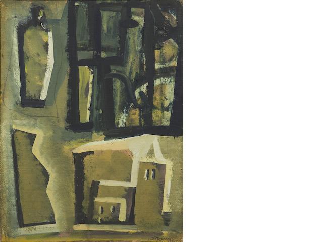 Mario Sironi (Italian, 1885-1961) Composizione con figure