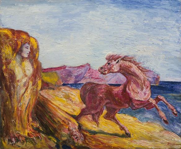 Aligi Sassu (Italian, 1912-1941) Il Cavallo e la Sfinge