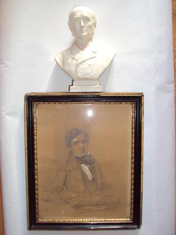 A Goss miniature portrait bust of W. C. Gully