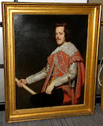 After Diego Rodríguez de Silva y Velázquez, 19th Centuty Portrait of King Philip IV of Spain, three-quarter-length,