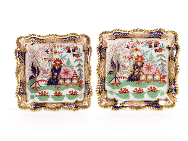 A pair of Flight, Barr and Barr dessert dishes, circa 1820-30