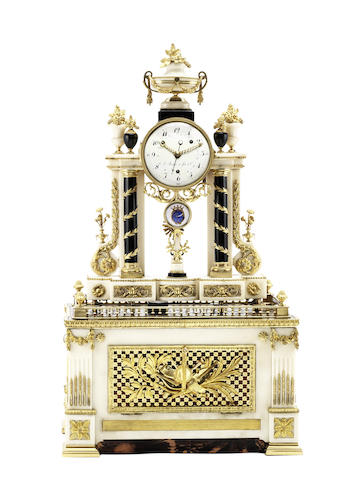 A fine and rare late 18th century grande sonnerie striking and musical mantel clock  J Robert et fils et Cie