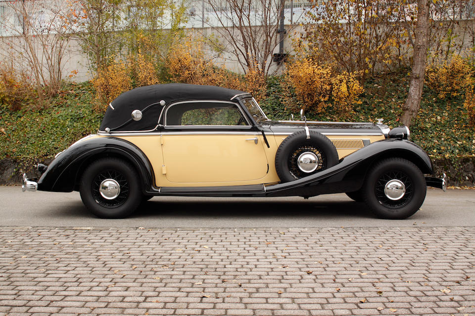 1939 Horch 853A Cabriolet  Chassis no. 854383 Engine no. 400.884.754