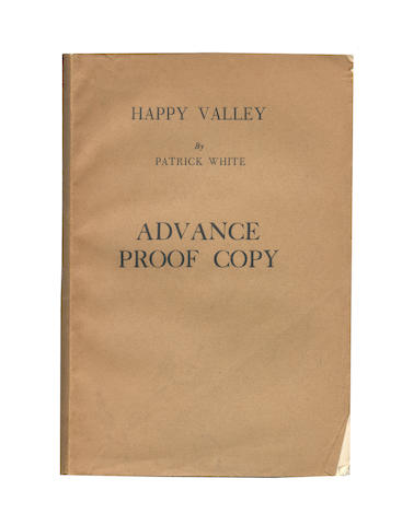 WHITE (PATRICK) Happy Valley, proof copy of the first edition, 1939