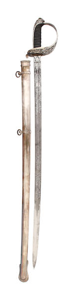 A Fine Silver Hilted Rifle Officer's Presentation Sword