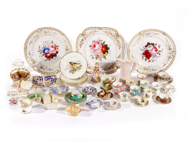 A group of English porcelain, 19th and 20th century